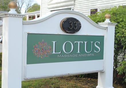 Company sign at entrance