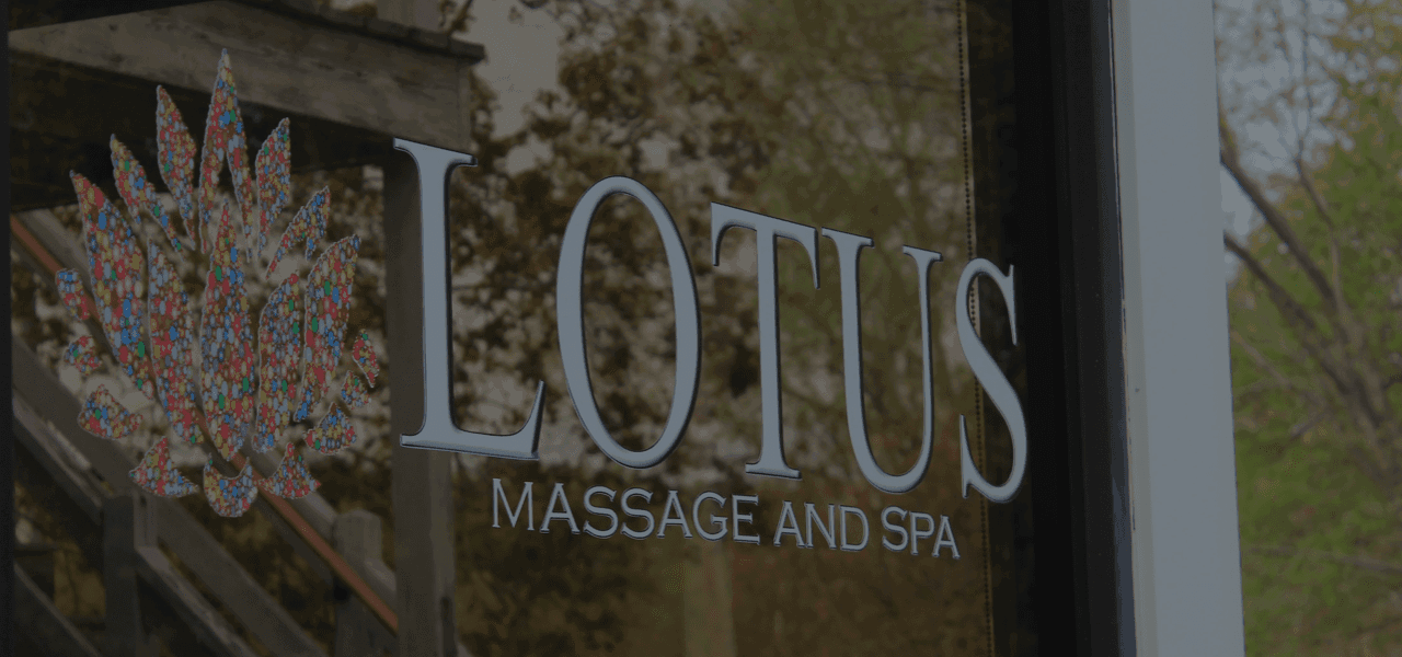 Lotus logo window reflection during sunset